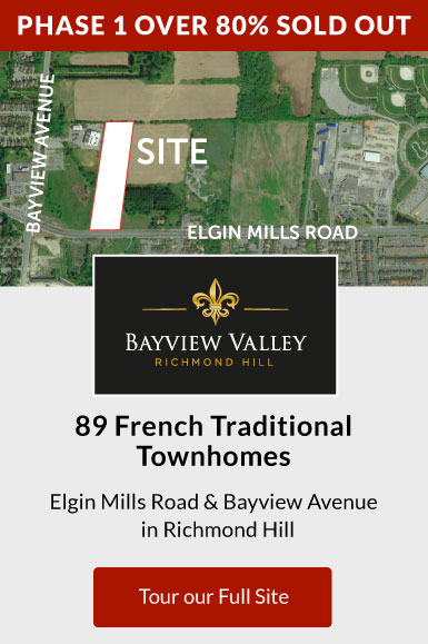 Bayview Valley. 42 Contemporary Townhomes Elgin Mills Road and Bayview Avenue in Richmond Hill. Become a VIP insider